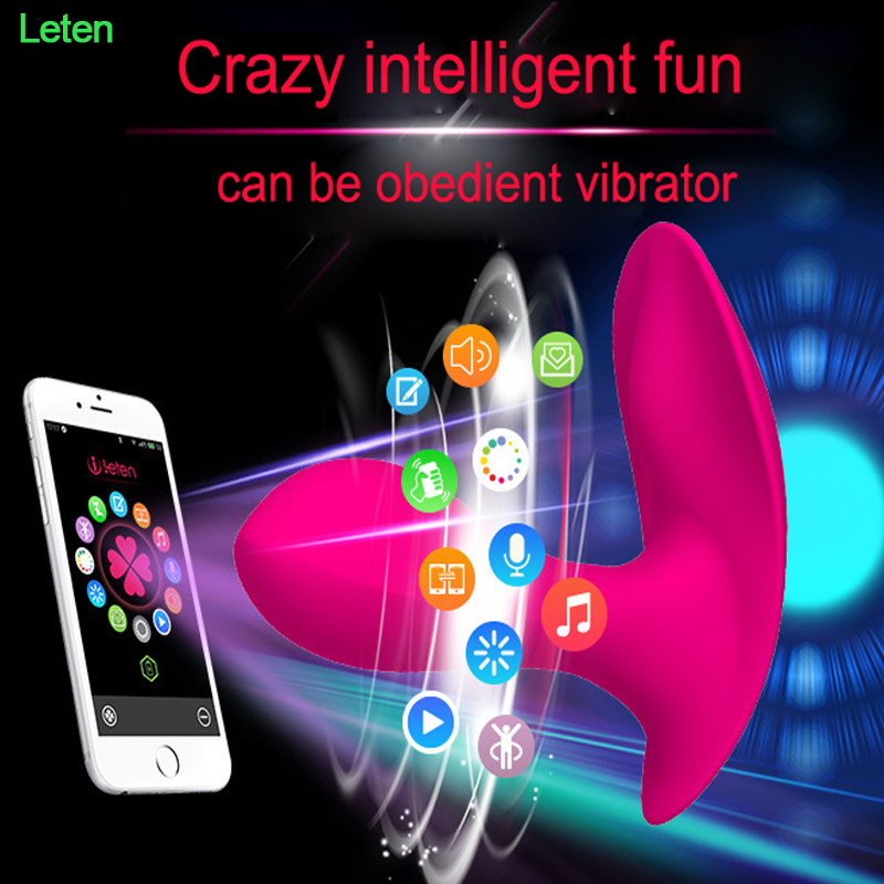 Leten New USB Rechargeable G Spot Vibrator Clitoris Stimulator Sex Products Wireless Remote Control Strap on Underwear for Women 360 degree vibrating rotation vibrator for women usb rechargeable ribbit vibrator g spot clitoris stimulator sex toys for women