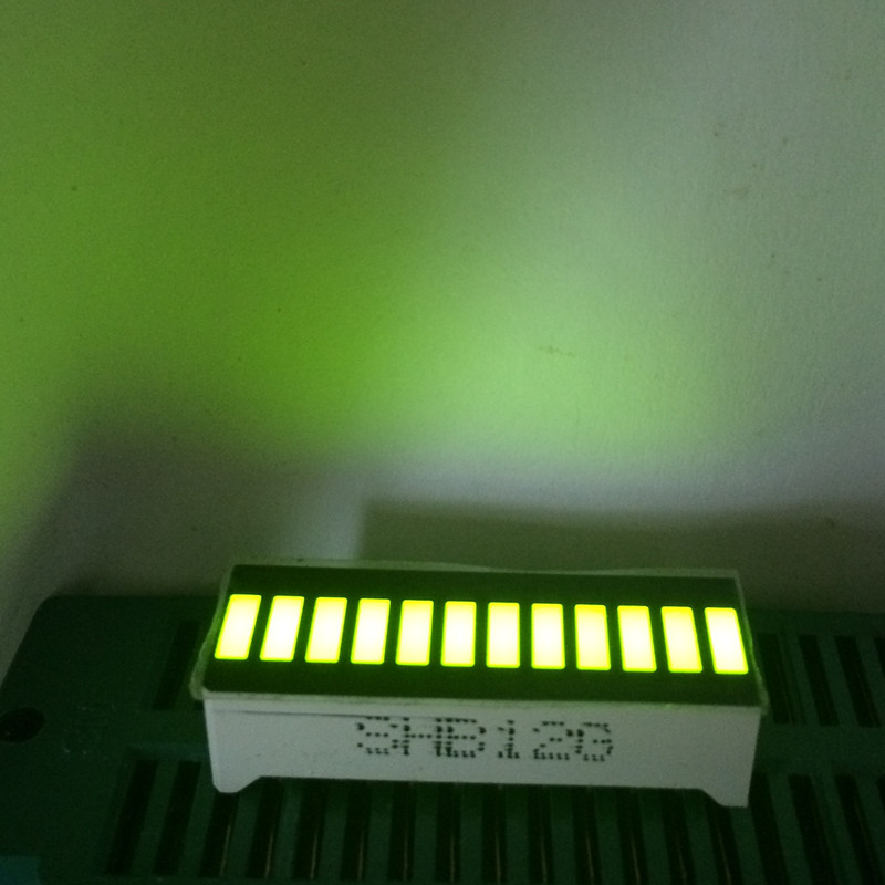 5pcs Green 12 LED Bargraph Displays Green Light 12 Graphic-Bar LED Display