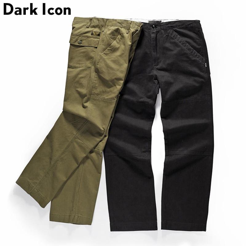 Military Army Straight Style Pants Men 2018 Cotton Pants Men Green Black