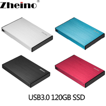 Zheino P2 USB3.0 Portable External 120GB SSD with Aluminum Case 2.5 SATA Solid State Drive Portable SSD External Hard Drive Disk