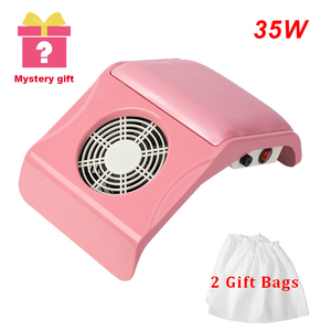 Image 1 - 35W Strong Nail Dust Collector Fan Vacuum Suction Manicure Tool Vacuum Cleaner Nail Art Equipment Nail Tools