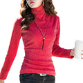 Autumn Winter Sequin t shirt women Turtleneck Long Sleeve Casual Basic T Shirt warm slim elegant velvet t-shirts plus size tops