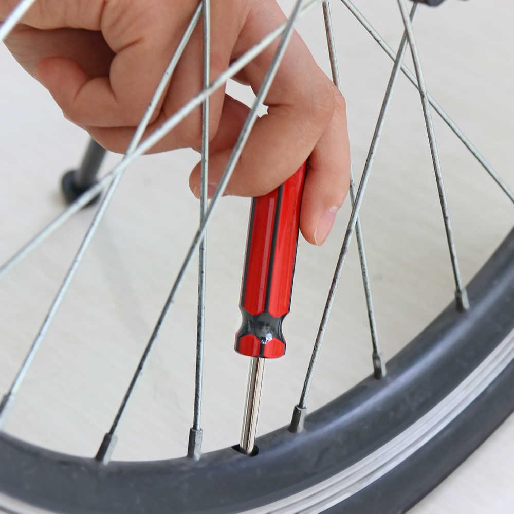Red + Blue UEETEK 2 Pcs Car Tire Valve Stem Core Remover Tool Installer Repair Tool