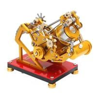 Цельнометаллический всасывающий тип и вакуумный двигатель Stirling Модель двигателя Поддержка двигателя тестирование игрушек