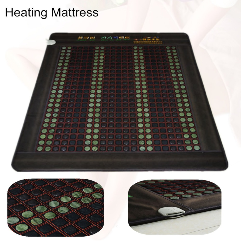 Far Infrared heating Jade Massage Mattress Heated Germanium stone Mat As Seen On TV 2019 with Free Gift eye cover