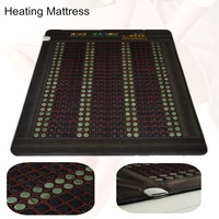 Far Infrared heating Jade Massage Mattress Heated Germanium stone Mat As Seen On TV 2017 with Free Gift eye cover