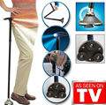 Trusty Cane LED Folding, Walking,Triple Head Pivot Base Hurry Now