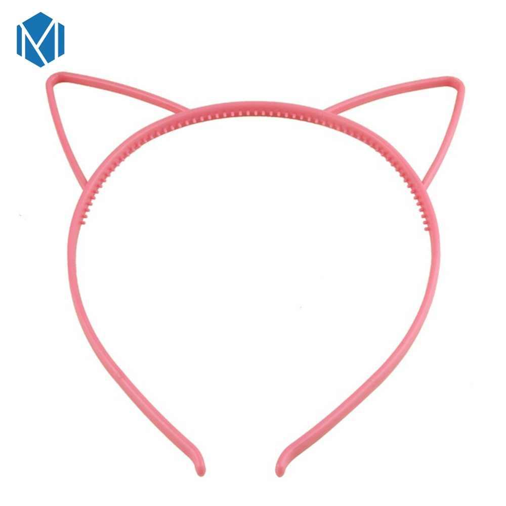 M MISM 1 шт., ободки с кошачьими ушками для девочек, корона, тиара, принцесса, с пластиковым животным, лента для волос, Бабочка, бант, аксессуары, головные уборы для девочек