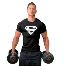 2017 Summer Men Superman Pictures Slim Sportshirt Male Fashion Style Fitness Bodybuilding T-shirts Man Sportwear Boy Tees Tops