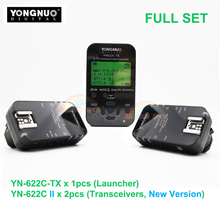 3in1 Yongnuo YN622C II + YN622C-TX E-TLL Wireless Flash Trigger Transceiver for Canon Yongnuo YN565 YN568 YN685 YN600EXRT Newest
