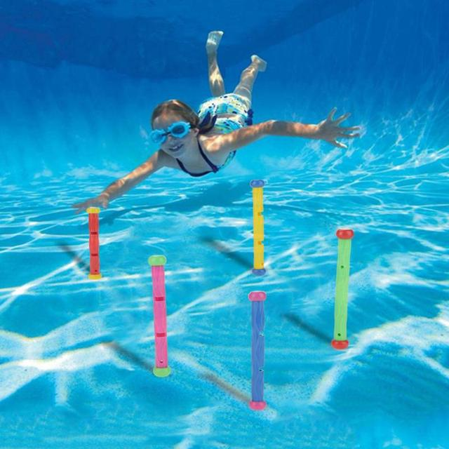 Baby Kids Dive Stick Toy swimming pool accessories Funny Children ...