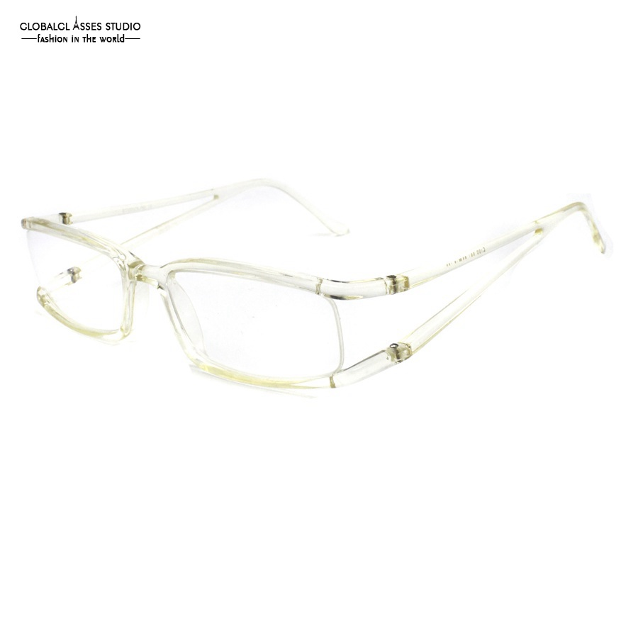 small rectangle lens acetate frame women clear crystal color flexible prescription spectacle eyeglasses frame 2106 001