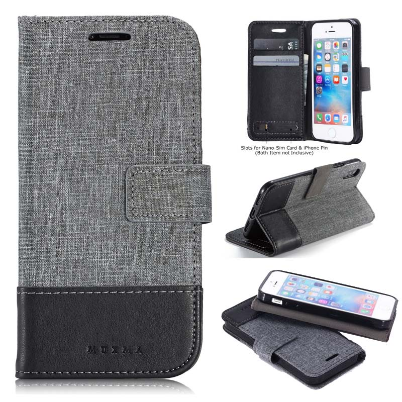 Leather Flip Wallet Case For Apple iPhone X Xr Xs Max