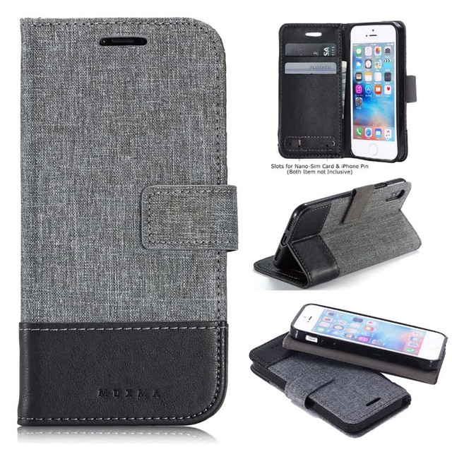 sale retailer d8525 e7807 US $2.99 40% OFF|Leather Flip Wallet Case For Apple iPhone X Xr Xs Max  Covers Denim Magnet Book Casing With Card Holder For iPhone Xs Max Shell-in  ...
