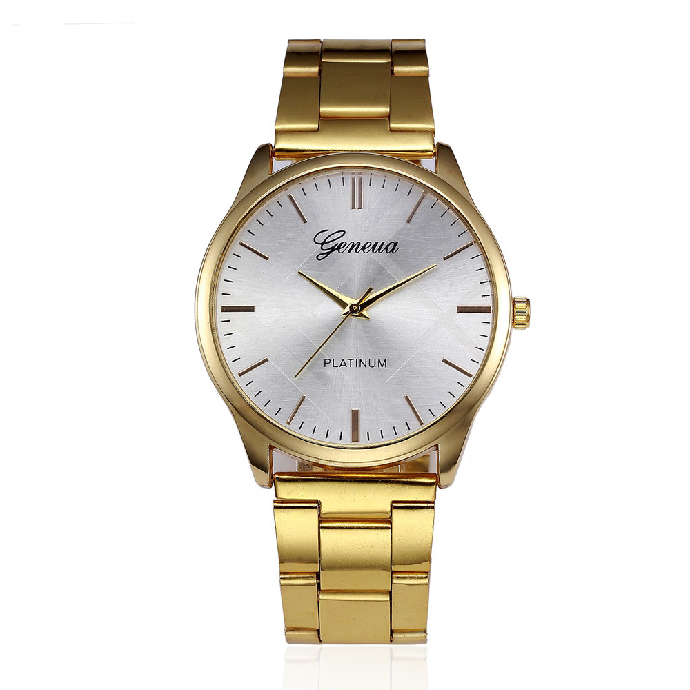 Top Fashion Luxury Brand Watch Women Gold Stainless Steel Belt Dress Analog Quartz Wrist Watch Gift Clock Relogio Feminino #A