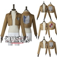 Cosplaydiy Attack on Titan Cosplay Shingeki no Kyojin Jacket Rival Ackerman Cosplay Jacket Attack on Titan Halloween Costume 10