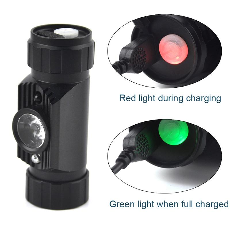 BORUiT 3W Mini IR senzor Indukcija prednjih svjetala USB punjiva - Prijenosna rasvjeta - Foto 4