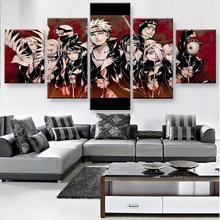 Framework 5 Piece HD Print Large Naruto Anime Modern Decorative Paintings on Canvas Wall Art for Home Decorations Decor