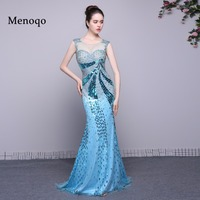 Dressy New Star Real Photo 2017 Evening Dresses Cap Sleeve Beads Mermaid Long Evening Gown Sexy