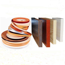 50meters/lot Hot melt self-adhesive PVC edge sticker furniture accessories Cabinet wardrobe board panel side pcv edge banding(China)