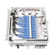 FirstFiber FTTH 12 cores fiber Termination Box 12 port 12 channel Splitter Box indoor outdoor fiber Splitter Box ABS