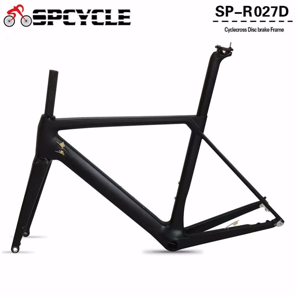 все цены на Spcycle Disc-Brakes Carbon Road Frames,Disc Brakes Carbon Bicycle Frames,Cycling Carbon Road Frames Cyclocross Gravel Framesets онлайн