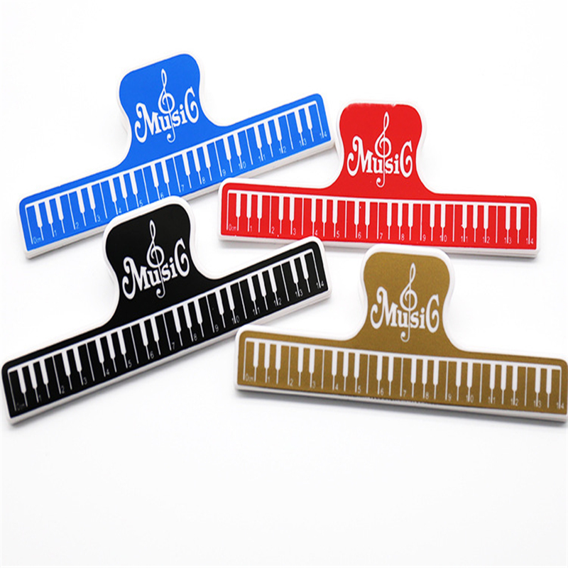 4pcs 15cm Plastic Music Score Fixed Clips Book Paper Holder For Guitar Violin Piano Player Office File Clips Office Supplies Office & School Supplies