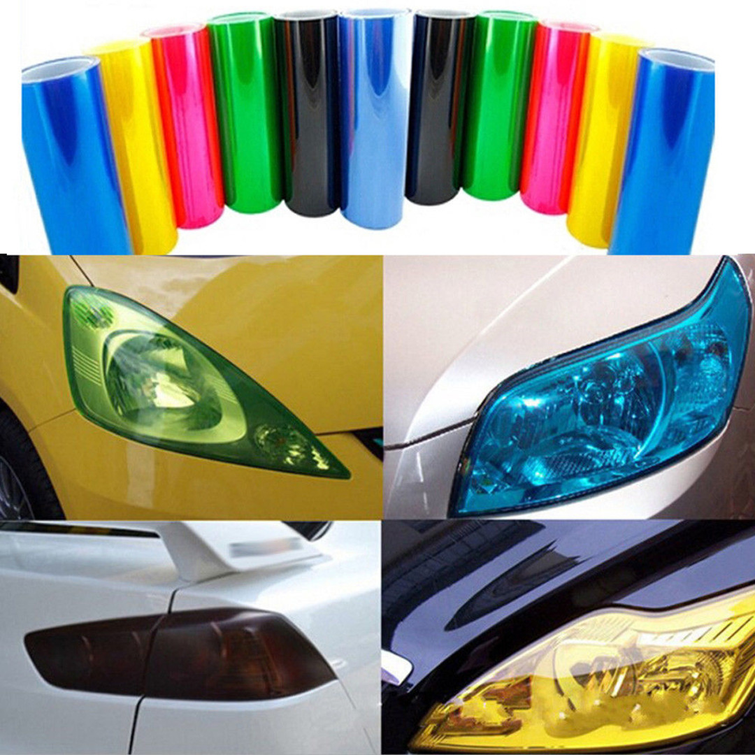 Onsale 30*60CM PVC Car Vinyl Film Decal 5 Colors Easy Stick Car Headlight Tail Light Wrap Stickers Mayitr
