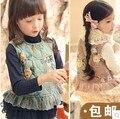 Winter New Children Spring Retro Vest  Baby Girls Vest coat Cute Waistcoat Warm Children Clothes 2 Colors