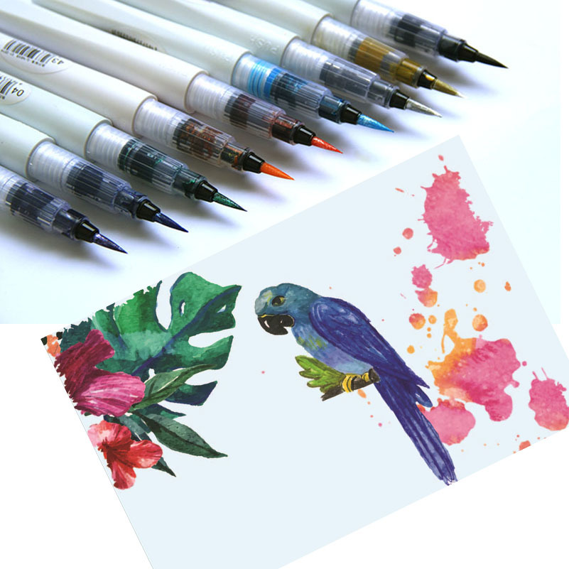 цены Brush Pen Set for artists Stationery sketching markers art supplies for drawing Painting watercolor markers