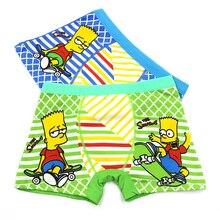 5pcs/set 2-9Years Cartoon Simpsons Boys Panties Cotton Underwear Shorts Kids Briefs Clothes Children Boy Pants Boxer