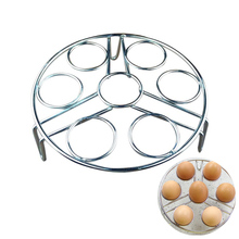 6 Holes Stainless Steel Egg Boiled Eggs Holder  Multi-Functional Steam Rack Tools Kitchen Cookware Gadgets Accessories Supplies