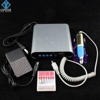 OPHIR 20000 RPM Electric Nail Broca Máquina Pedicure Manicure Kits Corrector Nail Art Portátil Ferramentas de Unhas Acrílicas _ KD142