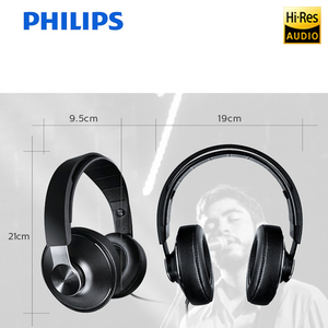 Image 4 - Philips SHP8000 Professional Headphones with Long Wires Microphone Volume Control Headset for Xiaomi MP3 Official verification