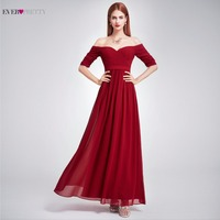 Elegant Woman Off The Shoulder Prom Dress 2017 EP07411 Ever Pretty Floor Length Burgundy Purple Navy