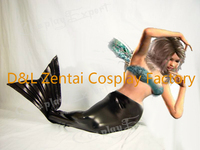 Free Shipping Sexy Adult Black Mermaid Tail for Girls Cosplay Party Halloween Costumes for Kids Fancy Dress Custom SC1728
