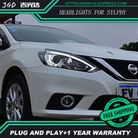 Auto Clud Car Styling For Nissan Sylphy Headlights 2016 Head Lamp Led DRL Front Bi Xenon