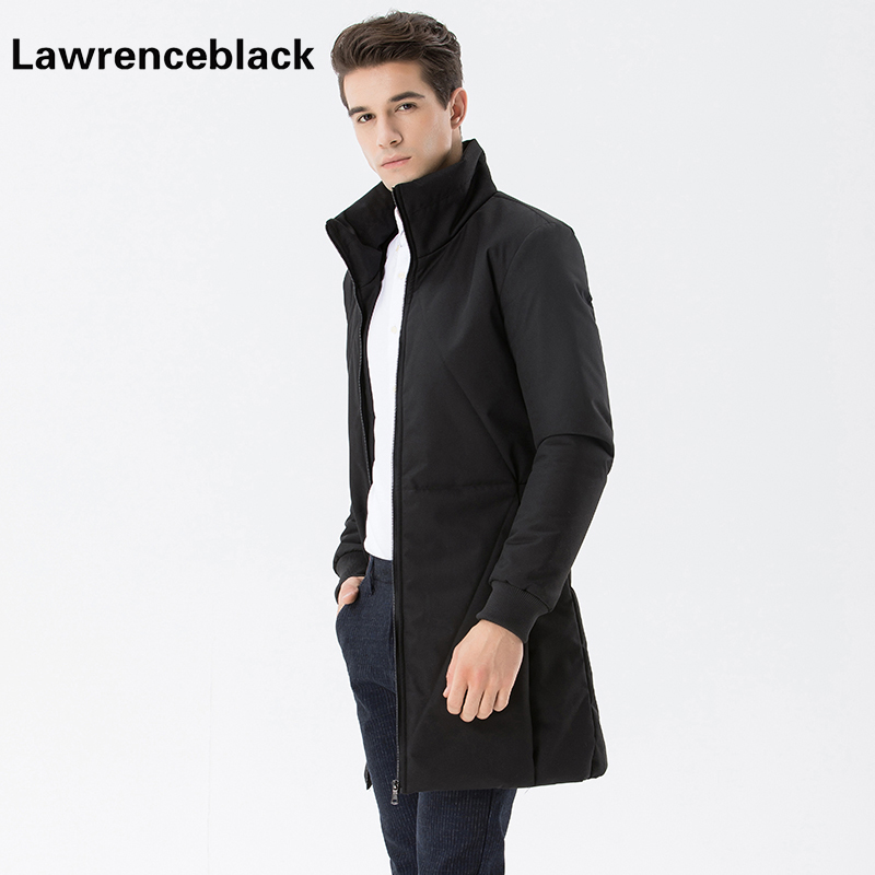 Lawrenceblack Business Long Jackets Thick Winter Coat Men Top Quality Clothing Solid Parka Fashion X-Long Overcoat Outerwear 896 zeeshant new clothing jackets business long thick winter coat men solid parka fashion overcoat outerwear in men s parkas xxxl