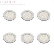 Modern 3W 12V LED Round Flat LED Bulb Lamps Lights 9.5-30v DC as Boat Caravan Lighting Lamps (6pcs/lot) CE RoHS