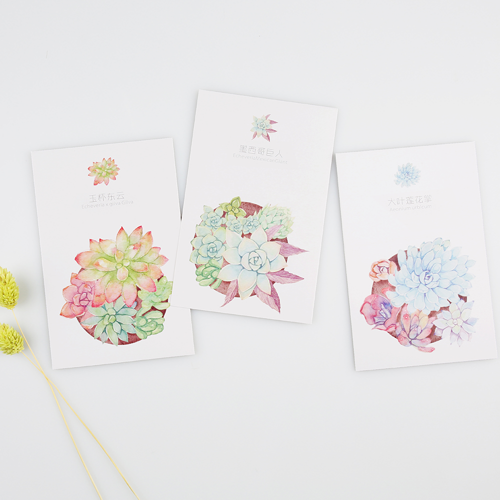 30pcslot cute green plants postcards diy succulents museum 30pcslot cute green plants postcards diy succulents museum greeting card note cards bookmark gifts office school stationery in letter pad paper from kristyandbryce Choice Image