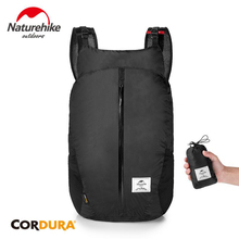 Naturehike 25L Folding Backpack Ultralight Travel Sports Bag 30D Nylon Portable Waterproof Outdoor Hiking Backpack NH18B510-B lklr 001 outdoor sports nylon backpack yellow grey 25l