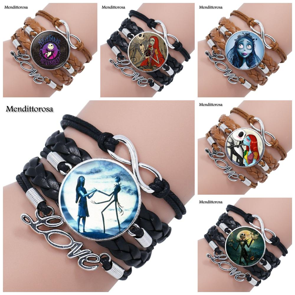 1Pair Nightmare Before Christmas Necklace Jack And Sally Pendant ...