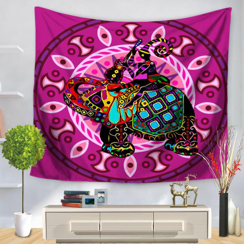 New Arrival Color Pattern Elephant Wall Tapestry Home