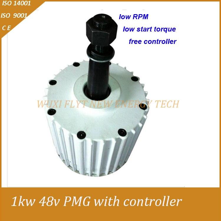 permanent magnet generator low RPM 1000W 48v