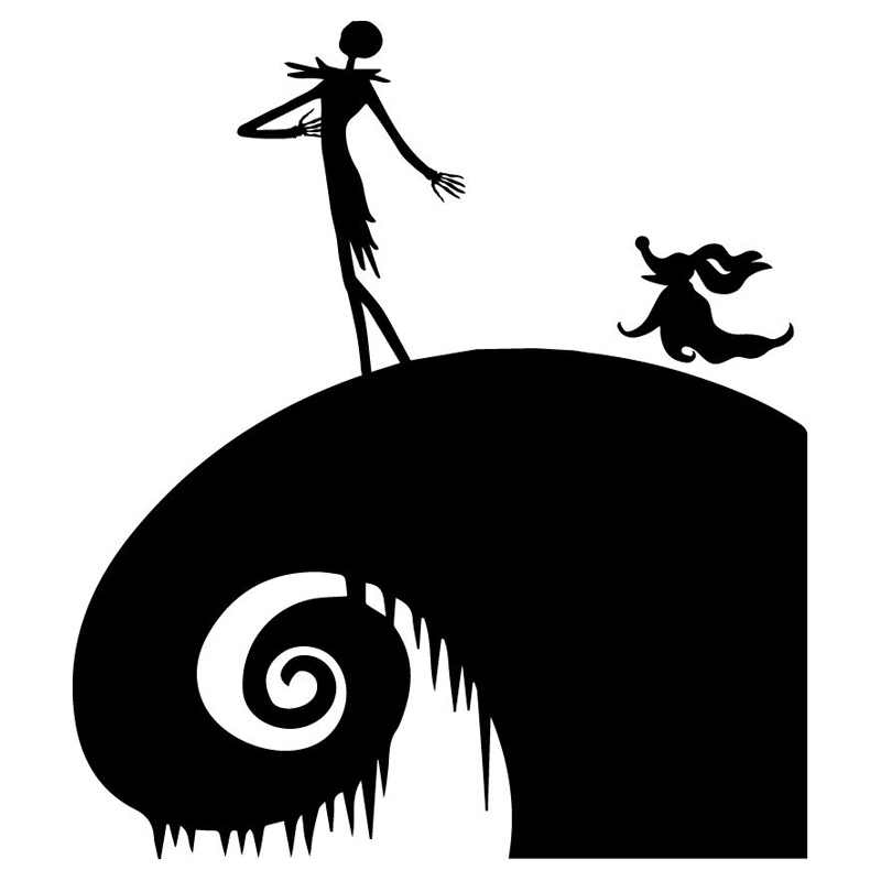 Nightmare Before Christmas Images Black And White.14cm 15 9cm Nightmare Before Christmas Jack Motorcycle Stickers Decals Black Silver S3 6576