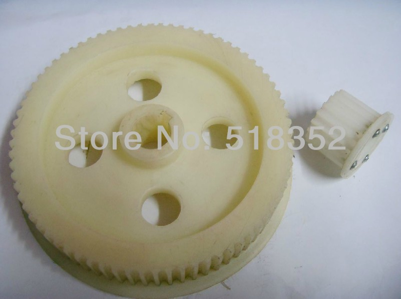 цена на Nylon Timing Gear Set (Including 1 Large and 1 Small) Matching with Timing Belt for Huafang EDM Wire Cut Machine Parts