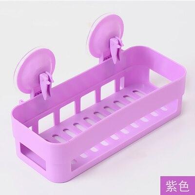 Настенная полка для ванной комнаты полка всасывания стены треугольная полка для ванной туалетная присоска контейнер - Цвет: purple