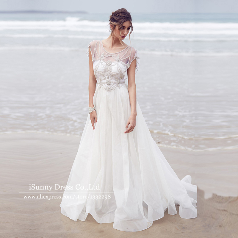 Online Buy Wholesale sheer illusion beach wedding dress from China ...