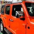 Для Jeep Wrangler SUV 2018 2019 ABS хромированное зеркало заднего вида накладка запасное Зеркало протектор внешние аксессуары