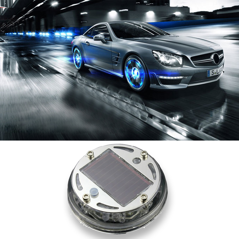 New promotion Fashion Solar Power 12 LED Auto Wheel Light Tire Lamp Car Signal Decoration Car-styling